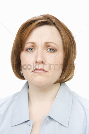 Worry : Portrait of mature woman