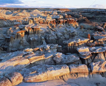 Remote : Rock formations elevated view