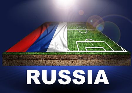 Pitch : Russia with football field