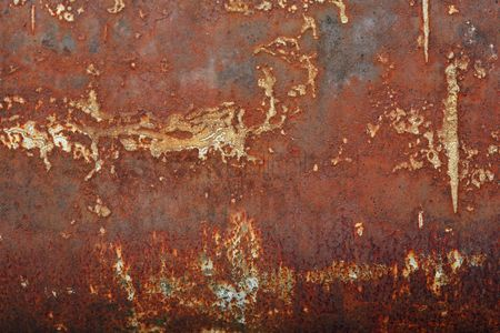 Abstract : Rusted metal