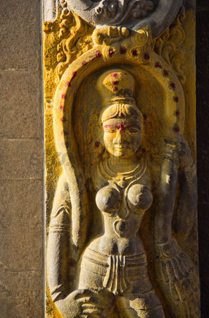 God : Sculpture of hindu goddess at kapaleeshwarar temple  mylapore  chennai  tamil nadu  india