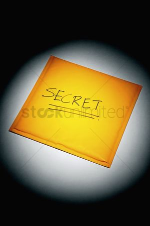 Forbidden : Sealed envelope with the word  secret