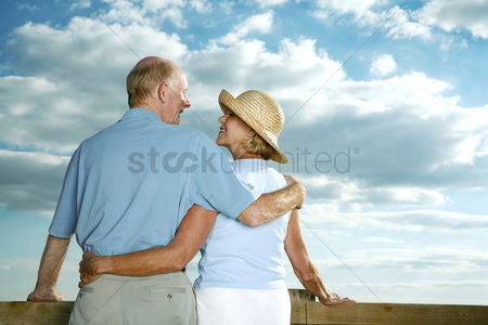 Enjoying : Senior couple enjoying a beautiful day