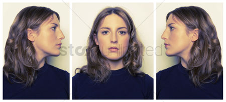 Face : Side and front portrait of criminal