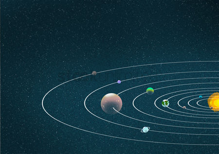 Earth  graphic vector : Solar system