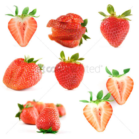 Refreshment : Strawberry on white backround