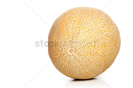 Organic : Studio shot of melons on white background