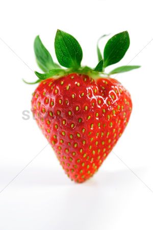 Refreshment : Studio shot of strawberry on white background