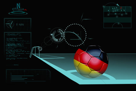 Nationality : Taking a corner infographic with germany soccer ball