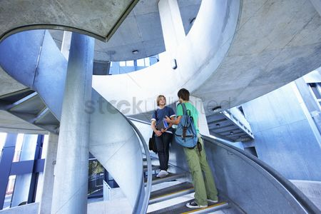 Steps : University students on staircase