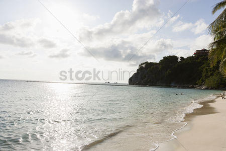Summer : View of beach on koh pha ngan thailand