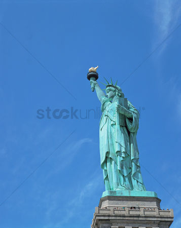Sculpture : View of statue of liberty