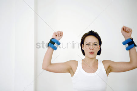Strong : Woman exercising
