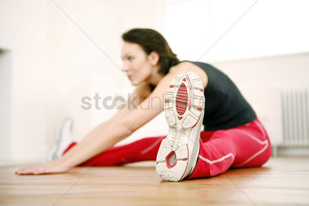 Enjoying : Woman exercising