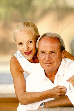 Smiling : Woman posing with her husband