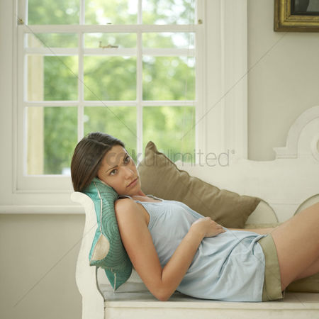 Daydream : Woman resting on the chair