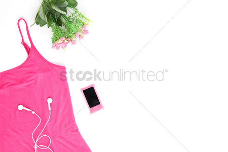 Beautiful : Woman s accessories on white background