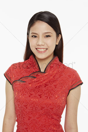 Lunar new year : Woman smiling at the camera