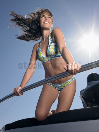 Spirit : Woman wearing bikini on boat