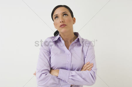 Thought : Woman with arms crossed