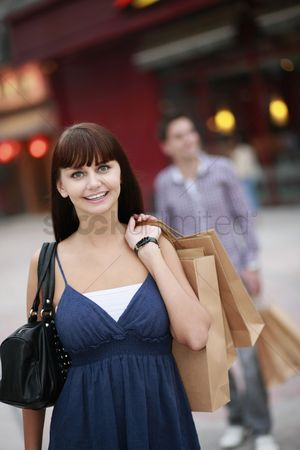 Spending money : Woman with shopping bags