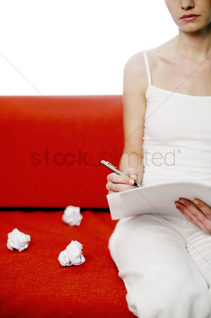 Educational : Woman writing