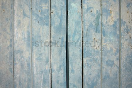 Background abstract : Wood panels painted blue