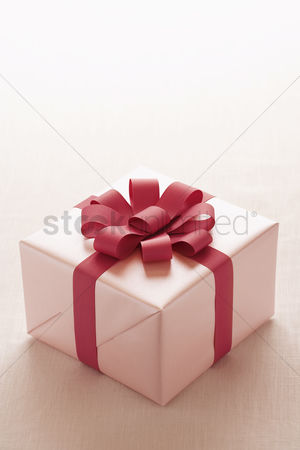 Pink : Wrapped christmas present